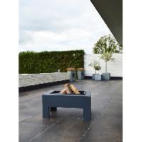 Amenagement Exterieur - Du Jardin E'LITE Braséro avec table en fibre rectangulaire 78x48x39cm Aucune