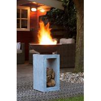 Amenagement Exterieur - Du Jardin E'LITE Braséro avec vasque sur petit support en fibre Aucune