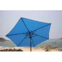 Amenagement Exterieur - Du Jardin Parasol droit inclinable 2.5m - Bleu