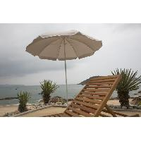 Amenagement Exterieur - Du Jardin Parasol rond - Arc 1.80 m - Structure en polyester anti-uv - Gris