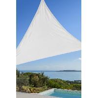 Amenagement Exterieur - Du Jardin Toile triangulaire 3M blanche