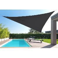 Amenagement Exterieur - Du Jardin Toile triangulaire 5M gris anthracite