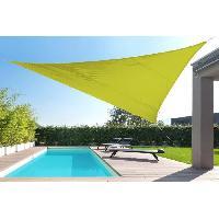 Amenagement Exterieur - Du Jardin Toile triangulaire 5M vert anis