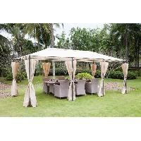 Amenagement Exterieur - Du Jardin Tonnelle de jardin - En acier polyester - 6 x 3 m - Beige Aucune
