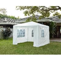 Amenagement Exterieur - Du Jardin Tonnelle de jardin Bari - En acier toile polyester - 3 x 3 m - Blanc Aucune
