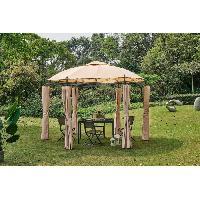 Amenagement Exterieur - Du Jardin Tonnelle de jardin Dune35 - 3.5 x 2.7 m - Beige Aucune