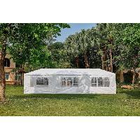 Amenagement Exterieur - Du Jardin Tonnelle de jardin Marinea - 3 x 9 m - Blanc Aucune