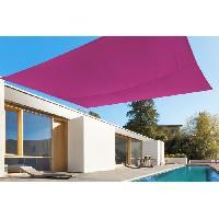 Amenagement Exterieur - Du Jardin toile rectangulaire 2.45x3.45M rose