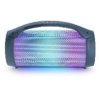 Amplificateur - Enceintes BIGBEN PARTYBTLITEDB - Enceinte lumineuse sans fil - Bluetooth - Micro inclus - Effets lumineux - 50W - Dark blue