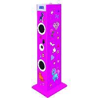 Amplificateur - Enceintes BIGBEN TW5RSSTICK Tour de son multimédia avec micro - 180 Stickers - 60W - Rose