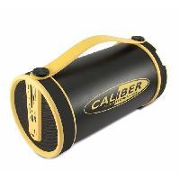 Amplificateur - Enceintes Enceinte bluetooth portable noir et jaune avec tuner FM et batterie integree. lecteursd. aux in. forme tubulaire. diametre 14.5cm