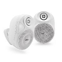 Amplificateur - Enceintes Ensemble enceintes exterieures amplifiee 2 voies - Bluetooth - sans fil - Caliber