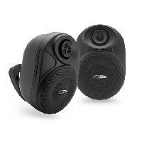 Amplificateur - Enceintes Ensemble enceintes exterieures amplifiee 2 voies - Bluetooth - sans fil - Noir - Caliber
