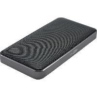 Amplificateur - Enceintes Haut-parleur Bluetooth portable equipe d'une batterie integree - Noir et Gris - Caliber