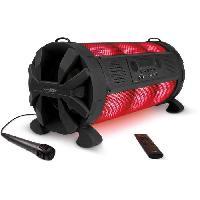 Amplificateur - Enceintes Haut-parleur portable Bluetooth LED-multicolores batterie integree Karaoke Sing-Along - Caliber