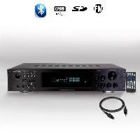 Amplificateur Hifi LTCA ATM8000BT Amplificateur hifi 5.2 avec fonction bluetooth et karaoke 4 x 75w + 3 x 20w - Noir