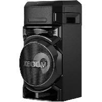 Amplification Et Restitution Du Son LG XBOOM ON5 - Enceinte Systeme High Power - Bluetooth - Lecteur CD - Boomer 8'' - Lumieres multicolores - Fonctions DJ & Karaoké