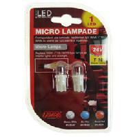Ampoule - Eclairage Tableau De Bord 2 Ampoules 1 Led T10 24V blanc - ADNAuto