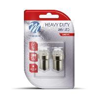 Ampoule - Eclairage Tableau De Bord 2 Ampoules TYPE GRAISSEUR R5W A LED BLANCHE Culot BA15S 24 VOLTS