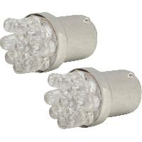 Ampoule - Eclairage Tableau De Bord Ampoules 9 Leds feux arriere T18 24V Blanc