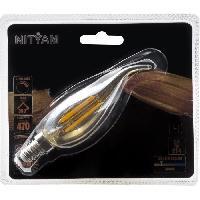 Ampoule - Led - Halogene Ampoules LED E14 flamme Coup de Vent filament ambre - 4 W equivalence 40 W - Blanc chaud