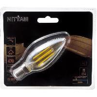 Ampoule - Led - Halogene Ampoules LED E14 flamme filament ambre - 4 W equivalence 40 W - Blanc chaud