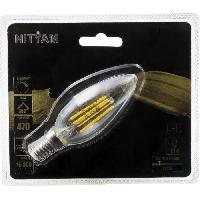 Ampoule - Led - Halogene Ampoules LED E14 flamme filament clair - 4 W equivalence 40 W - Blanc chaud