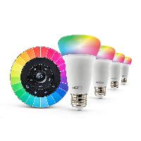 Ampoule Intelligente HRL101KIT Kit ampoules LED intelligente multicolore avec telecommande - Caliber