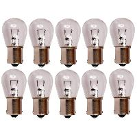 Ampoules 12V 10 Ampoules BA15S - Blanc - 12V 21W 3300K - Feux Stop
