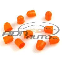 Ampoules 12V 10 Caches Ampoules T10 - Orange - 10mm ADNAuto
