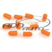 Ampoules 12V 10 Caches Ampoules T5 - Orange - 5mm