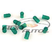 Ampoules 12V 10 Caches Ampoules T5 - Vert - 5mm