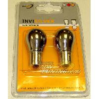 Ampoules 12V 2 Ampoules BA15S Chromees - 12V - 21W - Eclairage Blanc - Plots Alignes - Feux de Recul Generique