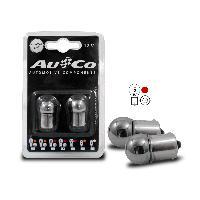 Ampoules 12V 2 Ampoules BA15S Chromees - 12V - 5W - Eclairage Rouge - plots alignes - Feux Generique