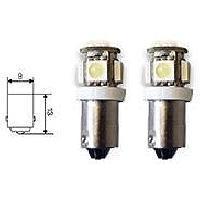 Ampoules 12V 2 Ampoules BA9S 5 LEDs - 12V - Avec Canbus - AuCo Generique