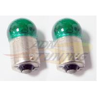 Ampoules 12V 2 Ampoules interieures culot - Vert - BA15S Generique