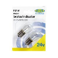 Ampoules 24V 2 ampoules P21W 24V BA15S SCC RW241 - Ring