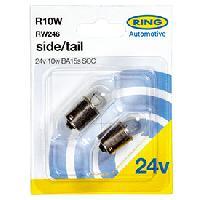 Ampoules 24V 2 ampoules R10W 24V 10W BA15S SCC Ring