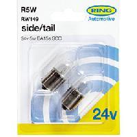 Ampoules 24V 2 ampoules R5W 24V 5W BA15S SCC Ring