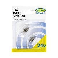 Ampoules 24V 2 ampoules T4W 24V 4W BA9S MCC RW249