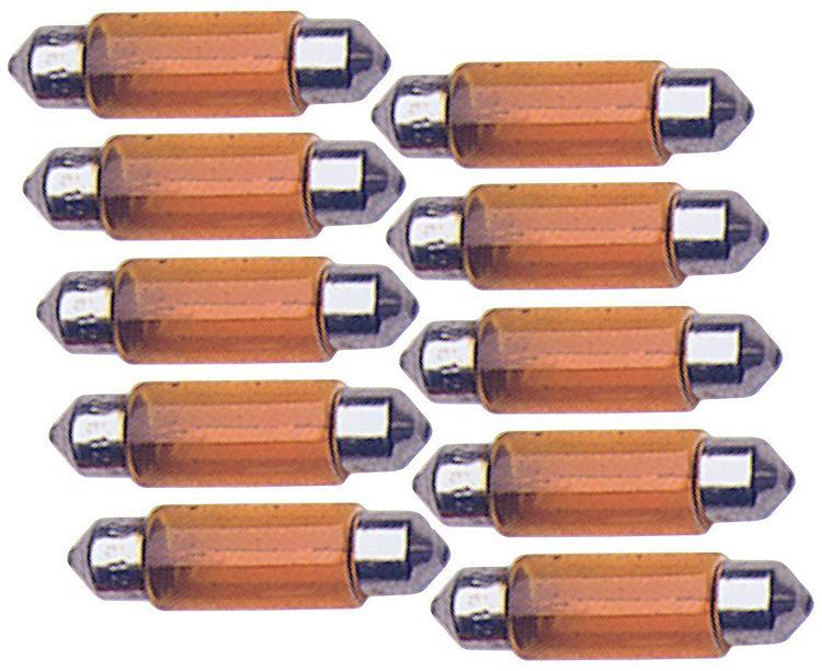 T11 35mm Orange 12v 10 Ampoules Navettes C5w 5w Adnauto KlFJ1c