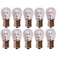 Ampoules et Leds 10 Ampoules BA15S - Blanc - 12V 21W 3300K - Feux Stop Carplus