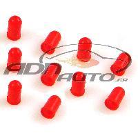 Ampoules et Leds 10 Caches Ampoules 5mm compatible avec tableau de bord - Rouge