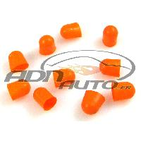 Ampoules et Leds 10 Caches Ampoules T10 - Orange - 10mm
