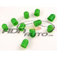 Ampoules et Leds 10 Caches Ampoules T10 - Vert - 10mm - ADNAuto