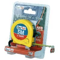 Angle Et Niveau (niveau - Cordon - Fil A Plomb - Jalon - Mire - Poudre De Tracage) TEC HIT Metre enrouleur 3 metres ABS bi-color