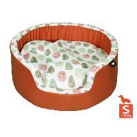 Animalerie AIME Corbeille pour petit et moyen chien. Sweet tropical - Taille S - 50cm - Coussin amovible confort design nature