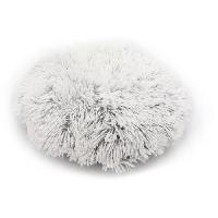 Animalerie AIME Coussin rond fourrure S Ø 45 cm - Blanc - Pour chat et petit chien