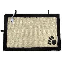 Animalerie AIME Tapis griffoir avec jouet suspendu - 35 x 55 cm - Pour chat