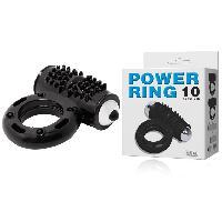Anneau vibrant noir Power Ring - 10 vitesses